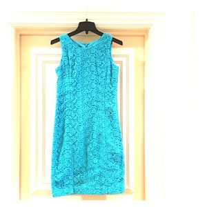 Blue Talbots Lace Dress